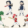 人物-男の子-野球(セット)