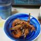 鍋と日本酒とガス海老の唐揚げ
