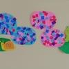 2歳児と作る「あじさいの壁面飾り」