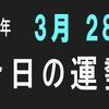 2018年 3月 29日 今日の運勢 (試)