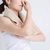 使いやすいバスタオルハンガー。脱衣所で圧迫感なく干せて、夜にカビが生えるのを防ぐ。