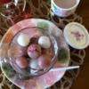 米粉で作るおしゃれな桜白玉レシピ*グルテンフリー簡単お菓子