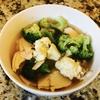 ブロッコリーとカリフラワーの和風スープ