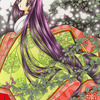 「萩姫」色鉛筆&鉛筆オリジナル平安イラスト(再掲):スマホ料金4ギガ1000円希望(;^ω^)
