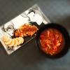 おうちごはん ポークソテーとお野菜のトマトスープ