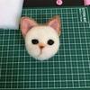 猫人形作り(茶白)⑤