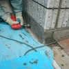 ブロック塀の積み替え05化粧ブロックの仕上げ