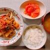 トマトと牛肉の中華炒め。クーラーがなかなか直らない。。!