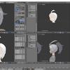 HoloLens用のオリジナルモデルを作成する その11(後頭部と髪のモデリング)
