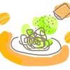 食費の節約~お茶漬けのりとパスタの絶妙な組み合わせ