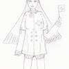 可愛らしい女の人を描く?が結果、足を描く練習その5