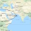 沖縄の緯度は大規模な砂漠の形成される所である