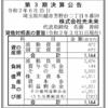 株式会社光未来 第3期決算公告