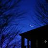 未明の眉月と水星