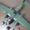 「胴体に主翼と各部の組み付け&墨入れ」 ダグラス A-26Bインベーダー 1/72 レベル