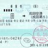 JR東海  沼津駅指定席券売機発行 乗車券 2<途中下車印収集>