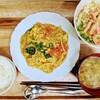 鶏とトマトの中華風卵炒め