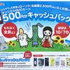 もれなく全員に!オリジナルQUOカード500円分キャッシュバックキャンペーン!