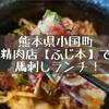 ふじ本 八百萬乃精肉本舗(熊本県小国町)新鮮な馬刺しランチを堪能!