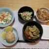 竹の子煮物4日目。竹の子ごはん。豚しょうが焼き。(2日目)