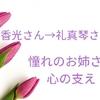 柚香光さんから礼真琴さんへエール♪憧れのお姉さん、心の支え。