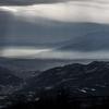 雲間をおりる『天使のはしご』:光と雲が織りなす幻想の鉢伏山 2019.01.10【山行記録】