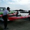 日本海のシーカヤック体験