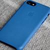 Apple純正 iPhone7 レザーケース シーブルーをRX10で撮影し直した