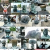 水木しげるロードの妖怪ブロンズ像 & 白狼焼 & 本宮の泉