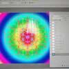 宇宙と幾何学模様のパステルアート