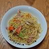 昨夜の晩御飯 春キャベツとベーコンのパスタ・・・と、竹の子の炒め物