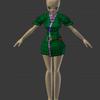 東北ずん子をモデリングする(10) 着物のモデリング