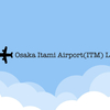 大阪・伊丹空港 着陸 光景