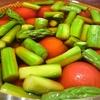 初夏のおひたし トマトとアスパラガス