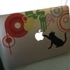 Macbookオリジナルステッカーの作り方!【SCANDALのMAMIのギター柄作ってみた】