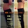 【比較写真あり!】★45日間ダイエット結果報告★【45日目/短期ゴール】