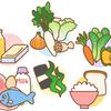昨日の夕食。野菜とタンパク質を意識して。