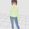 CLIP STUDIO MODELERのキャラクターを自作の顔に書き替える方法