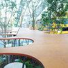 カフェもいいけど緑やユニークな椅子も