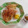 ゴーヤ料理。ゴーヤとイカのチジミ&ゴーヤの和え物
