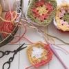 セリアの毛糸でモチーフ編み