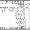 カフェ・ベローチェ運営の株式会社シャノアール 第53期決算公告