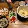 チーズフォンデュとシャコ