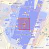 MKMapView 上のタップした地点を中心にして正方形を描く