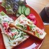 高たんぱく低カロリーなカニカマを使ったトーストレシピ【朝ごパン】
