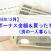 【賞与収入】2018年12月 冬ボーナス金額&買ったもの(男の一人暮らし編)公開!