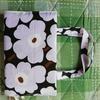 マリメッコ布で、手作り「バック型ブックカバー」