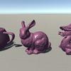CGでよく使われるティーポット・ウサギ・ドラゴンをダウンロードしてUnityに入れる