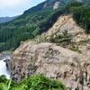立野峡谷、地震後の鮎帰の滝