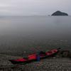 梅雨空の奥琵琶湖